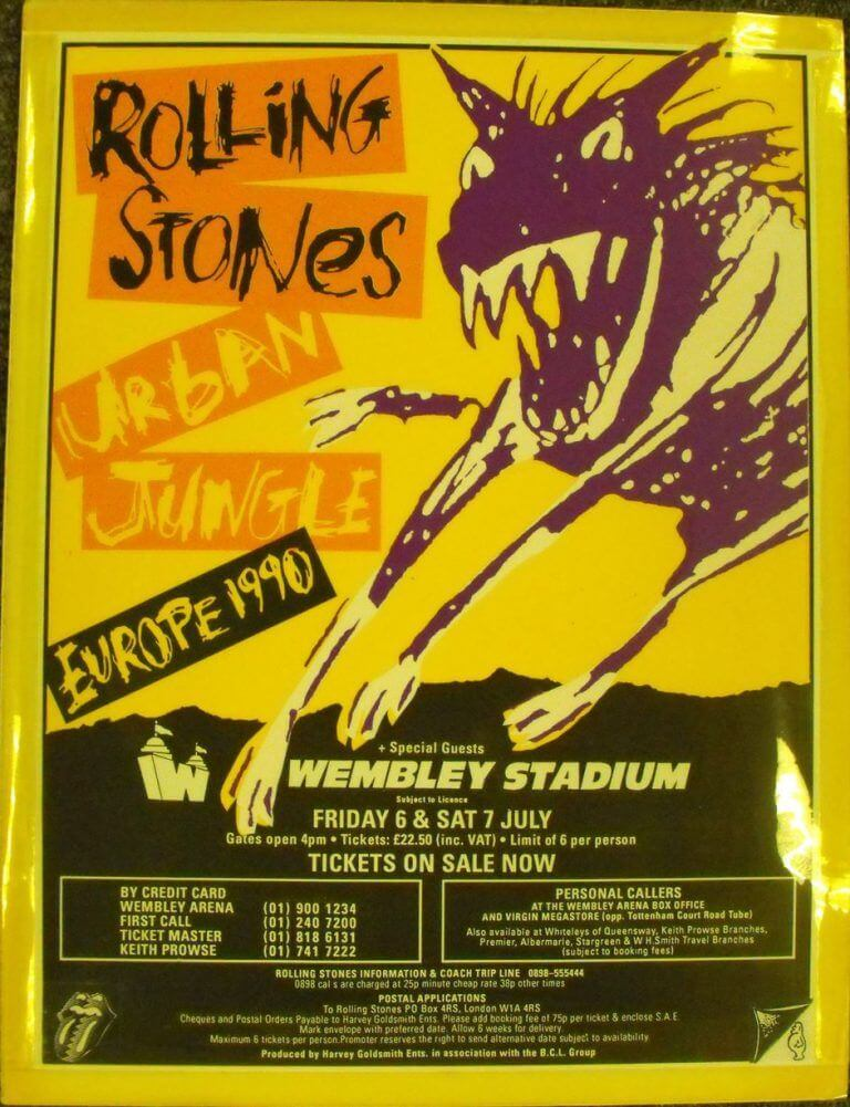 the rolling stones live at wembley 1990